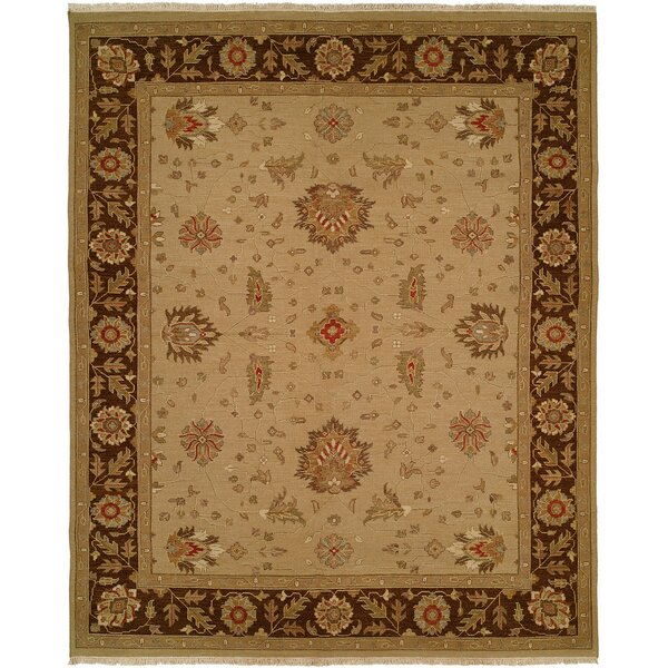 Dhenkanal Hand-Knotted Camel / Brown Area Rug by Meridian Rugmakers