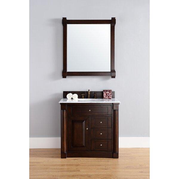 Kettner 36 Single Burnished Mahogany Bathroom Vanity Set by Alcott Hill