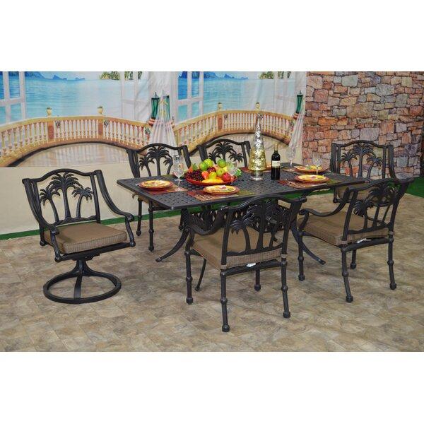 Maccharles 7 Piece Dining Set with Cushions Bayou Breeze BBZE4646
