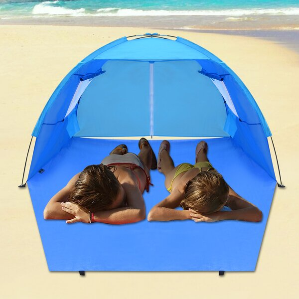 Pop Up Beach Potable Shelter Camping Sun Shade Outdoor Canopy 4 Person Tent by Sunrise Outdoor LTD