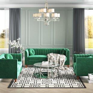 Brennon Chesterfield 3 Piece Living Room Set by Mercer41