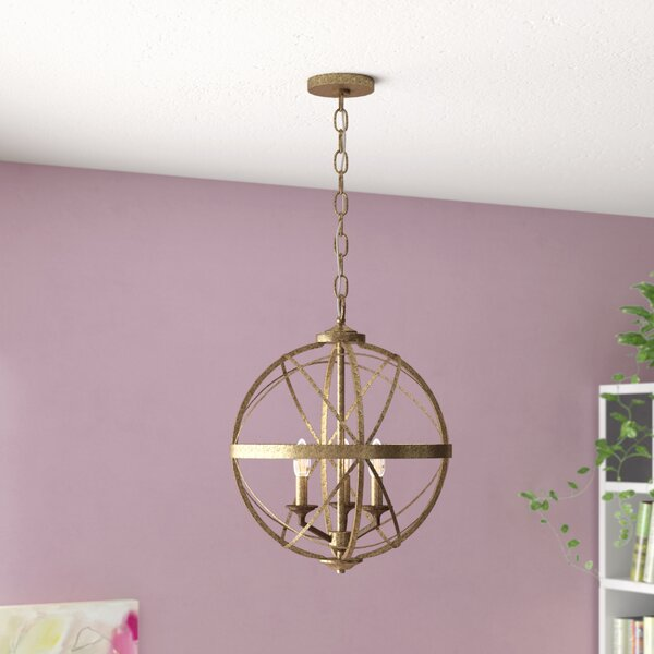 Rodden 3 - Light Candle Style Globe Chandelier by World Menagerie World Menagerie