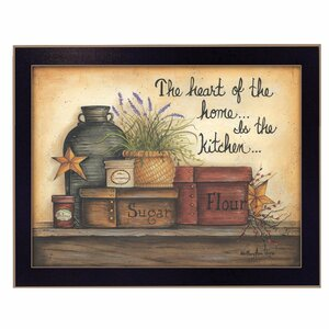 'Heart of the Home' Framed Graphic Art Print by Trendy Decor 4U