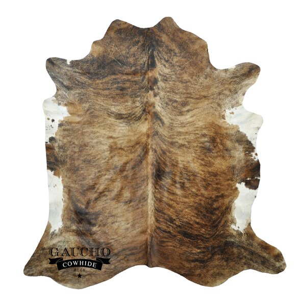 One-of-a-Kind Pinkerton Cowhide Brown/White Area Rug by Loon Peak