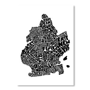 Mapart Brooklyn Textual Art by Americanflat