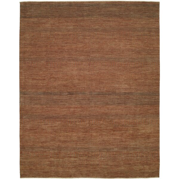 Illusions Rust/Dark Green Area Rug by Shalom Brothers