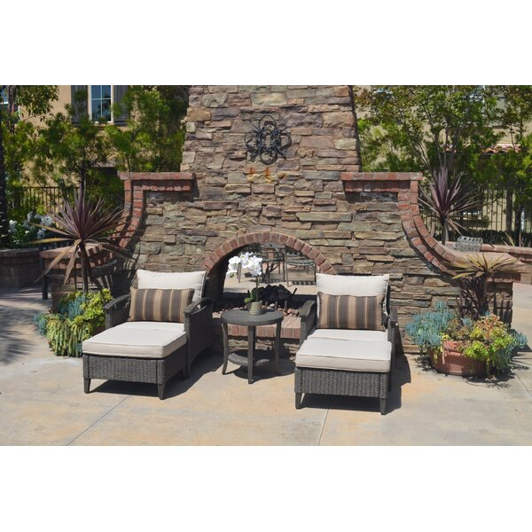 Brantley 5 Piece Seating Group with Cushions by Brayden Studio
