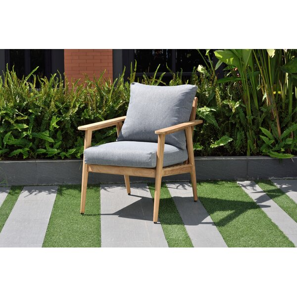 Darrah Deep Seating Teak Patio Chair with Cushions by Brayden Studio
