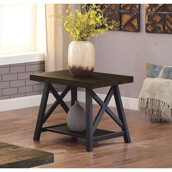 Brookneal Industrial End Table by Three Posts