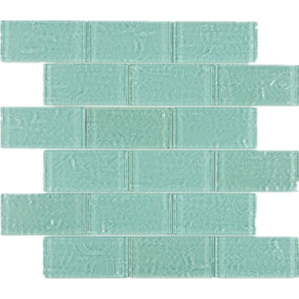 2 x 4 Glass Mosaic Tile in Green by Multile