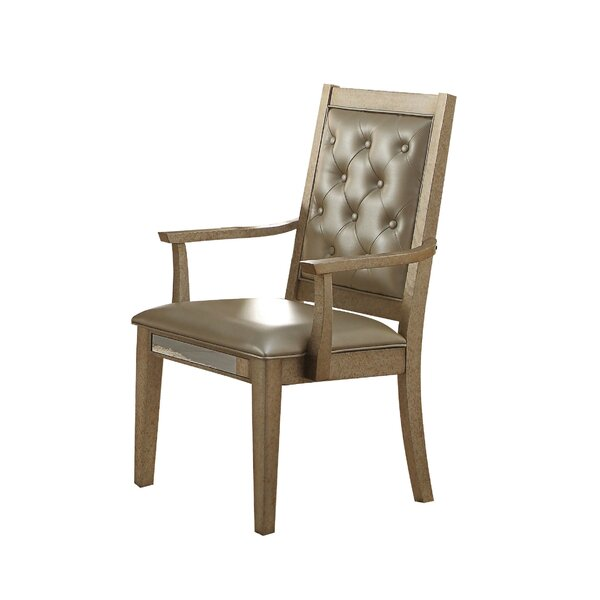 Isai Upholstered Dining Arm Chair (Set of 2) by Rosdorf Park