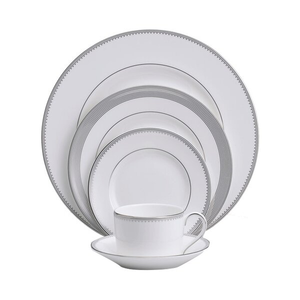 Grosgrain 5 Piece Place Setting, Service for 1 by Vera Wang