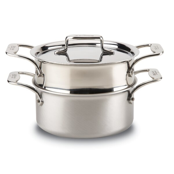 d5 Brushed Stainless 3-qt. Multi-Pot with Lid by All-Clad