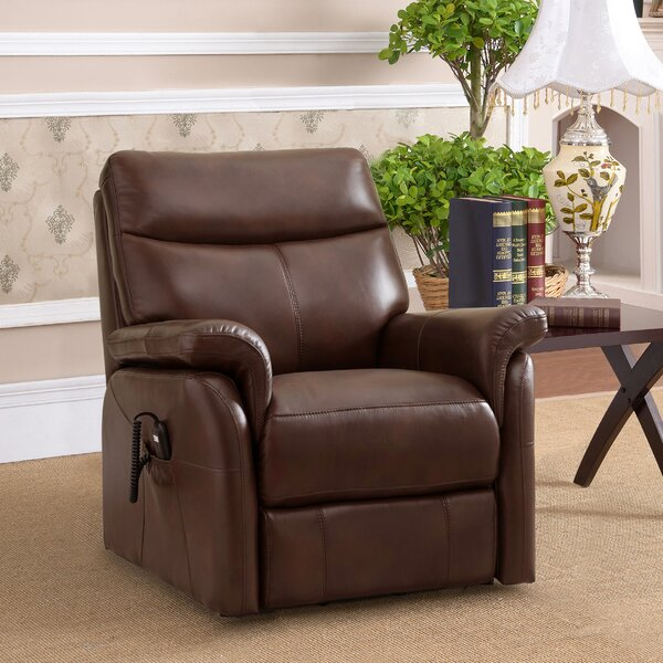 Ybanez Leather Power Lift Assist Recliner [Red Barrel Studio]