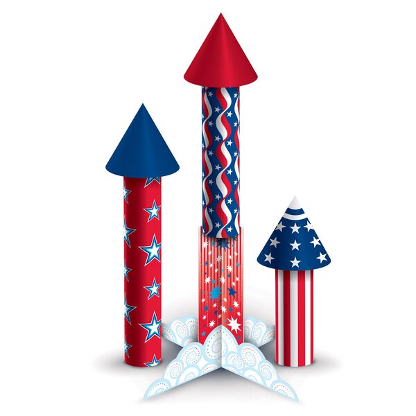 3 D Firecracker Centerpieces & Hanging Décor Set by The Holiday Aisle