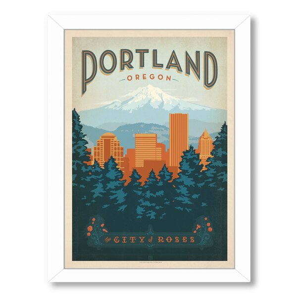 Portland Oregon Framed Vintage Advertisement by East Urban Home