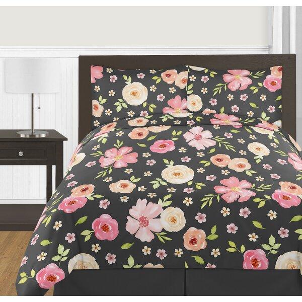 Watercolor Floral 3 Piece Comforter Set by Sweet Jojo Designs