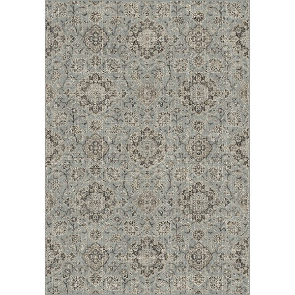 Carnbore Silver/Blue Area Rug by Charlton Home