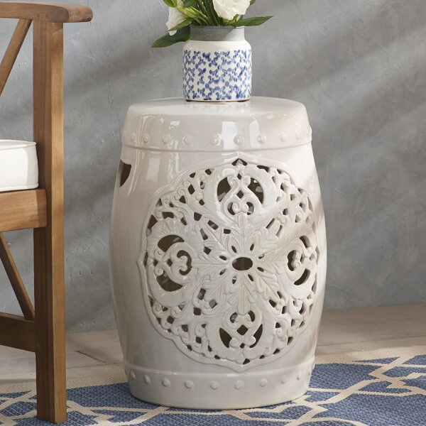 Nagle Flora Garden Stool By Three Posts