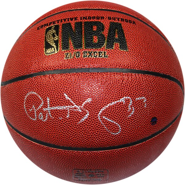 Patrick Ewing Signed Indoor/Outdoor Basketball by Steiner Sports