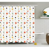 Thelma Modern Retro 60s 70s Vintage Geometrical Circles Dots Points Ombre Image Single Shower Curtain Allmodern