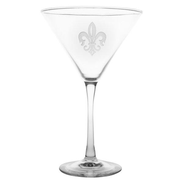 Grand Fleur De Lis 10 oz. Martini Glass (Set of 4) by Rolf Glass