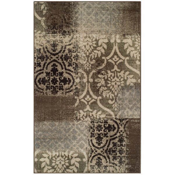 Maggie Ivory/Gray Area Rug by Winston Porter