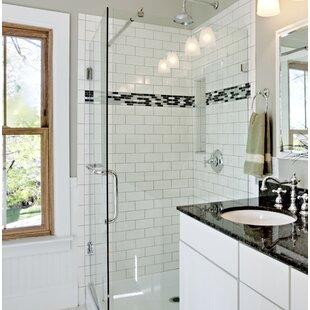 Semplice 6 X Ceramic Bullnose Tile Trim In Glossy White
