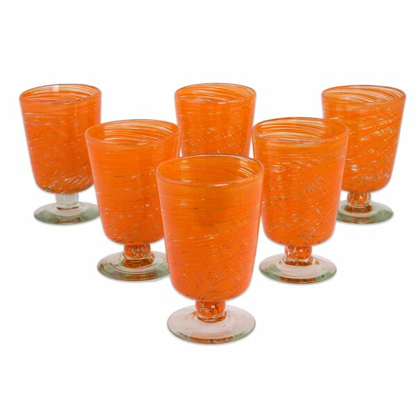 Halloween 10 Oz. Every Day Glasses (Set of 6) by Novica