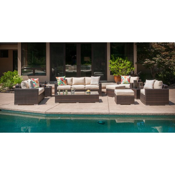Virgilina 9 Piece Sofa Seating Group with Cushions by Brayden Studio Brayden Studio