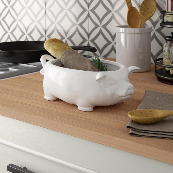 Lucky Pig Ceramic Bowl by Birch Lane™