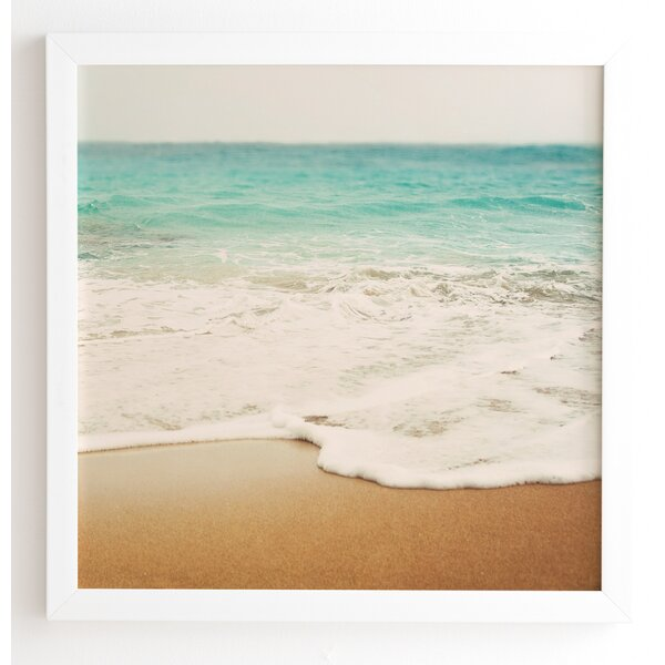 Ombre Beach Framed Photographic Print by East Urban Home
