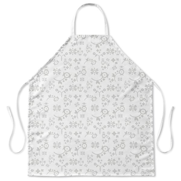 Traditional Floral Apron by Alcott Hill