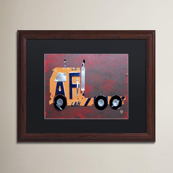 Wendi Semi Truck by Design Turnpike Wood Framed Art by Zoomie Kids