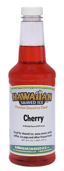 Snow Cone and Shaved Ice Syrup, 16 Ounces (Set of 2) by Hawaiian Shaved Ice