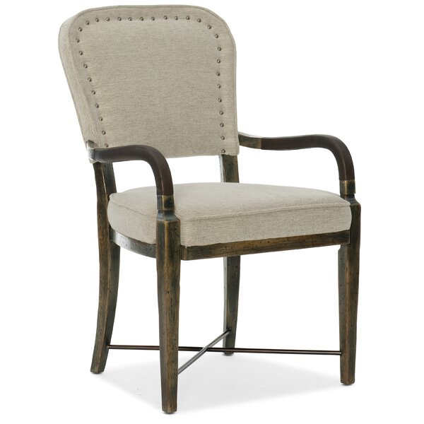 Crafted Upholstered Dining Arm Chair by Hooker Furniture
