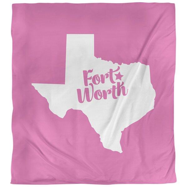 Fort Worth Texas Single Reversible Duvet Cover