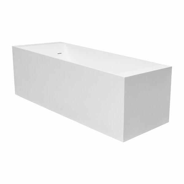 Laredo 71 x 28  Freestanding Soaking Bathtub by Maykke