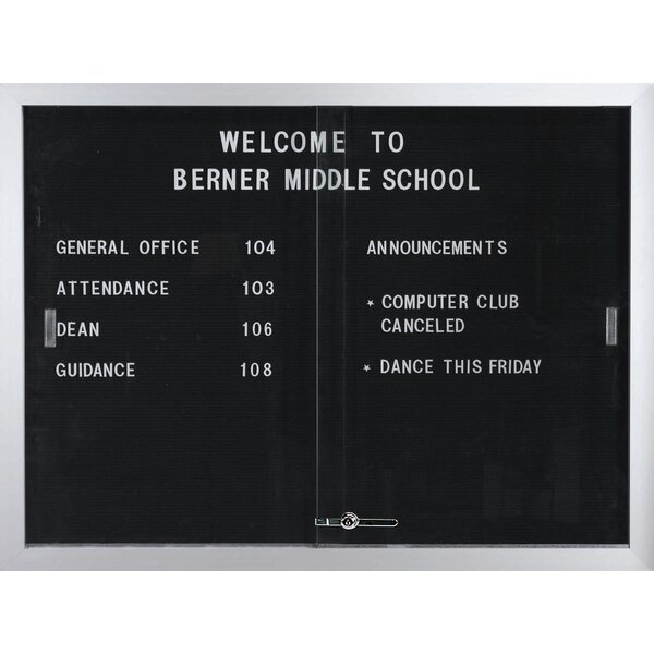 Directory Enclosed Wall Mounted Letter Board by AARCO