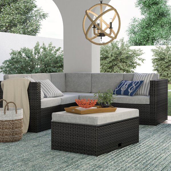McNab 4 Piece Rattan Sectional Seating Group With Cushions By Sol 72 Outdoor by Sol 72 Outdoor Top Reviews
