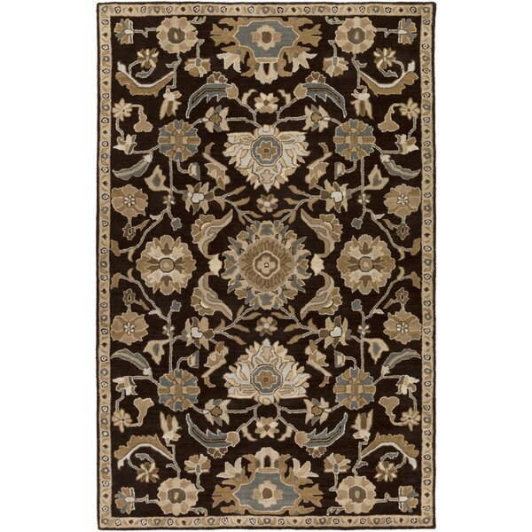 Topaz Hand-Tufted Dark Brown Area Rug by World Menagerie