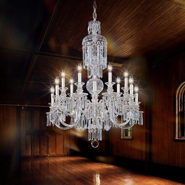 Fairfax 14-Light Candle Style Chandelier by Schonbek