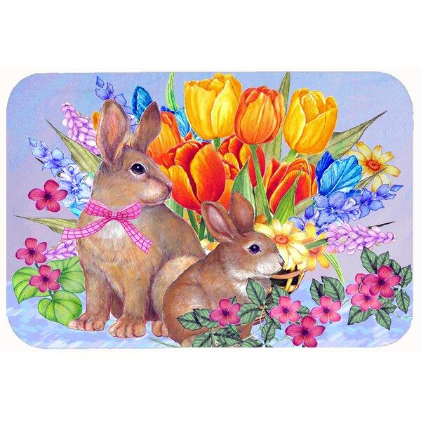 New Beginnings II Easter Rabbit Kitchen/Bath Mat by Caroline's Treasures