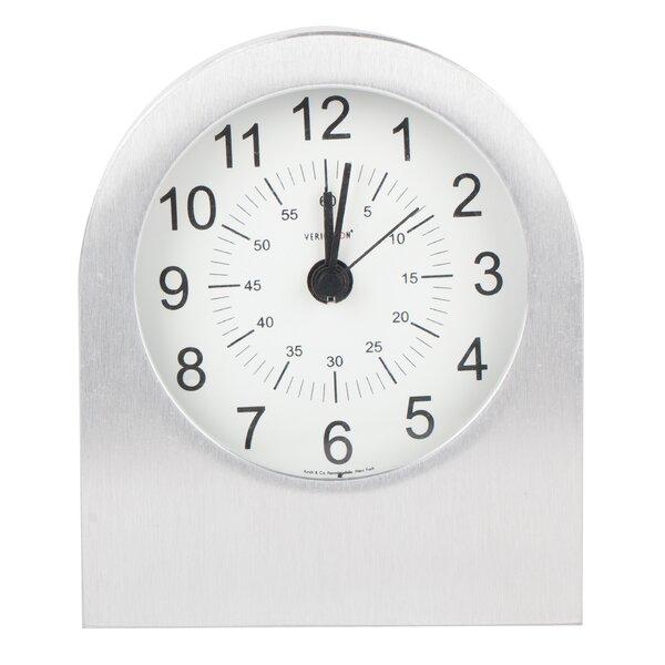 Verichron Aircraft Grade Aluminum Alarm Tabletop Clock by Control Brand