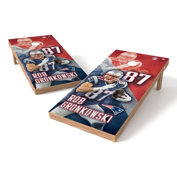 NFL New England Patriots Rob Gronkowski Cornhole Game Set by Tailgate Toss