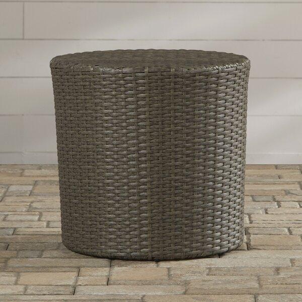 Mazzella Bluestar Barrel Wicker Side Table by Merc