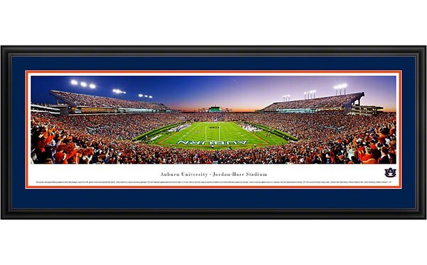 NCAA End Zone Deluxe Framed Photographic Print by Blakeway Worldwide Panoramas, Inc