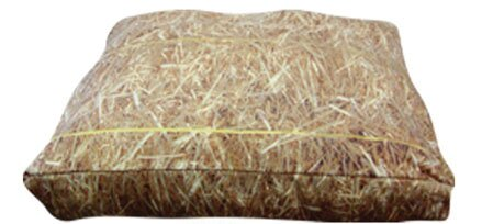 Rectangle Hay Dog Pillow by Dogzzzz