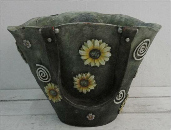 Bersani Polyresin Bag with Fixed Strap Pot Planter by August Grove