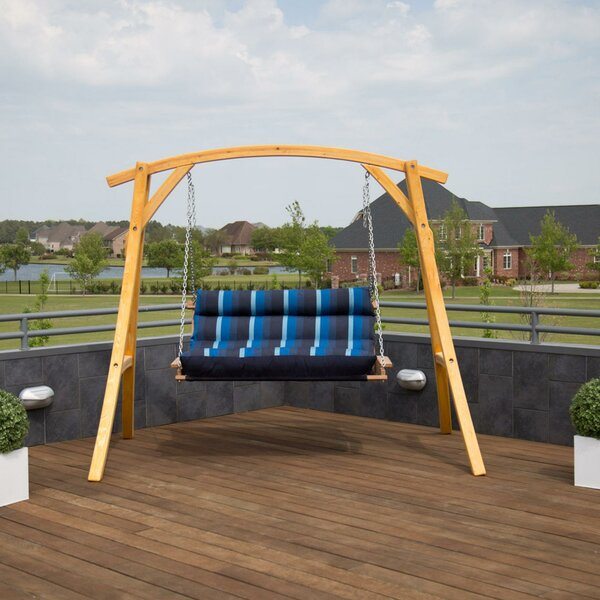 Brooker Deluxe Porch Swing with Stand by Loon Peak